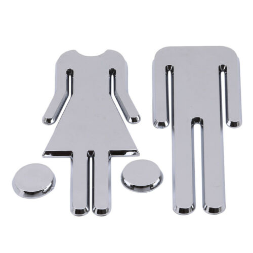 3D Removable Toilet Bathroom WC Signs Door Accessories Wall Sticker Home Decor