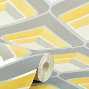 Grandeco-Geometric-Yellow-Grey-Glitter-Wallpaper-A16001