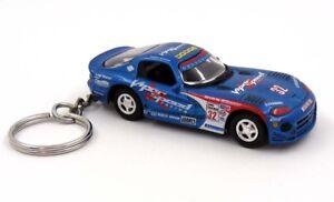 Racing Viper GTS-R Blue Key Chain Ring Fob Keychain