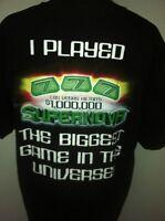 Hilton Las Vegas Black Tshirt Size L Supernova Resort 44 Chest Lady Luck Ga