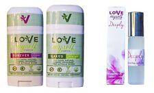 Combo of 3 Love Myself Organics Deeply 10ml Perfume FOREVER and NAKED Deodorant