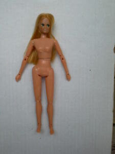 """Vintage Dinah Mite European Green Eyes Nude Jointed Action 8"""" Doll 1972 Mego"""