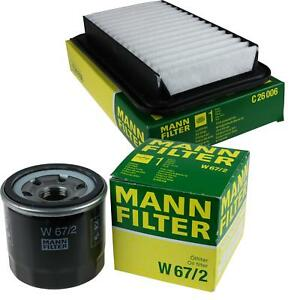 Mann-Filter-paquete-Vauxhall-Agila-Mk-II-B-1-2i-16v-Opel-Swift-IV-FZ-NZ-1-3-ddis