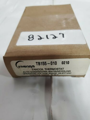 Auto Changeover Heating//Cooling 24-277VAC Invensys Fancoil Thermostat 50-90F