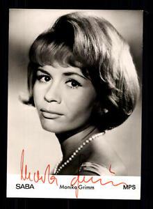 Systematisch Monika Grimm Autogrammkarte Original Signiert ## Bc 80942 National Musik