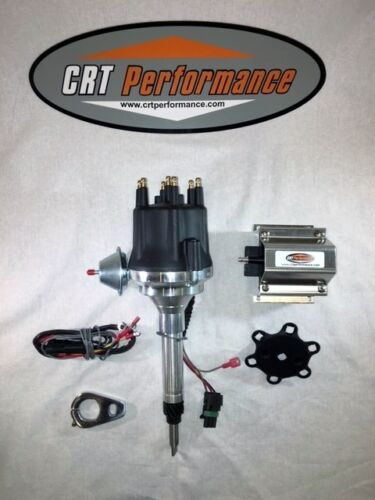 Small Cap CHEVY INLINE 6 Cylinder 235 Black HEI Distributor 60K Volt Coil