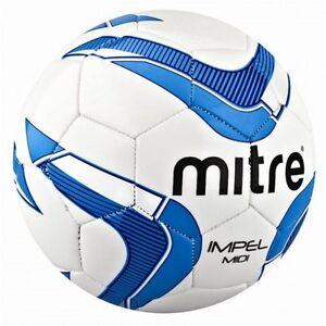 Mitre-IMPEL-MIDI-FOOTBALL-size-2-White-Blue