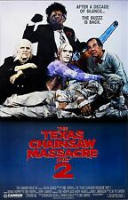 THE TEXAS CHAINSAW MASSACRE Part 2 Movie Poster Horror Leatherface