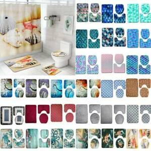 3Pcs-Bathroom-Non-Slip-Floral-Style-Pedestal-Rug-Lid-Toilet-Cover-Bath-Mat-Set