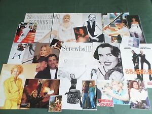 GEENA DAVIS   FILM STAR  - CLIPPINGS /CUTTING PACK