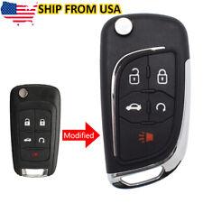 Car Key Fob Cover Shell Remote 5 Button For Chevrolet Cruze Malibu Impala Sonic Fits 2012 Chevrolet Cruze Lt