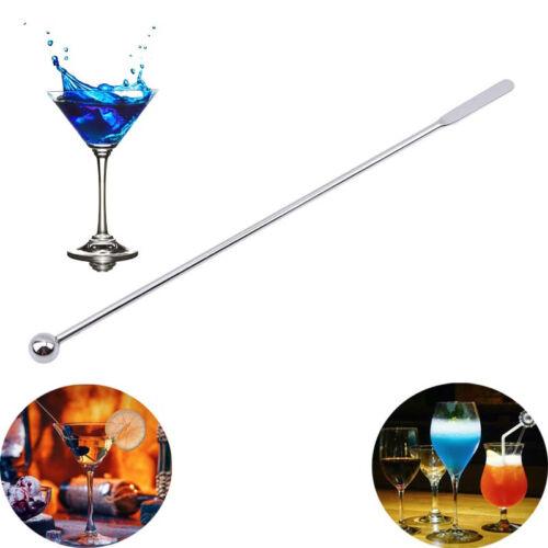 Stainless Steel Coffee Beverage Stirrers Stir Cocktail Drink Swizzle Stick Long