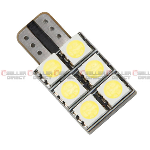 2x 501 T10 194 W5W 6 SMD LED Light HID White Indicator Number Plate Sidelight