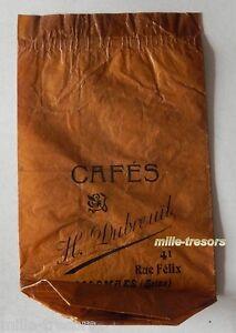 RARE-ancien-SACHET-Cafes-H-DUBREUIL-41-rue-Felix-COLOMBES-Seine-Mod-Marron