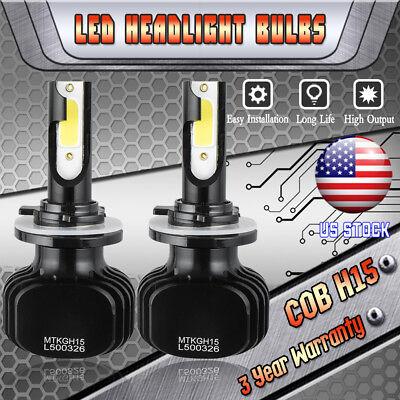 H15 LED Headlight High Beam Bulb DRL Lamp Kit for Audi A6 2009-2014 Q7 2010-2013