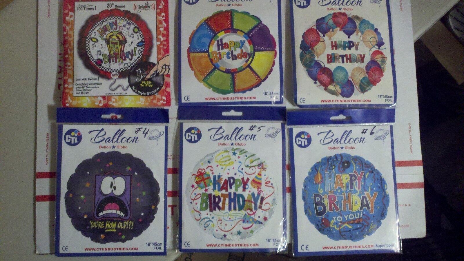 Lot de 48 Mylar Anniversaire Ballons 6 To Choisir De MIX  N  Match emballages fermés