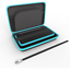 thumbnail 3 - Nintendo 2DS XL Hard Carrying Case/Cover with 8 Cartridge Holders (Black/Teal)