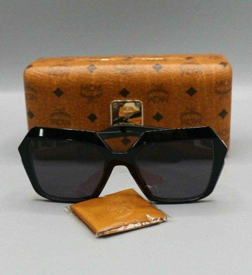 MCM 661S 001 Black Square Sunglasses 53mm with Case