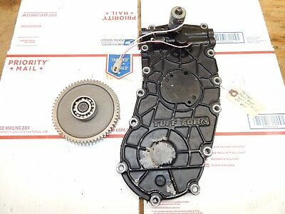 John Deere 425 TUFF TORQ Transmission REAR COVER WITH MID PTO GEAR-USED-CLEAN on john deere engine wiring diagram, john deere 425 engine diagrams, john deere hydraulic system diagram, john deere lawn 425, john deere 425 attachments,