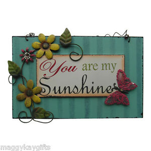 You-are-My-Sunshine-de-Madera-Colgante-Placa-Letrero-Dichos-Flor-Floral