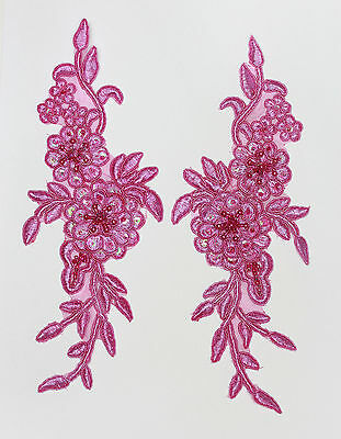 Embroidered Venise Lace flowers Applique Trim Motifs #2