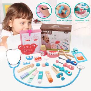 Kid-Wooden-Pretend-Play-Doctor-Kit-Medical-Toys-Set-Dentist-Nurse-Education-Gift