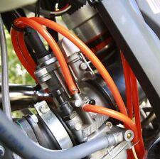 KTM 250 Sx exc Carburettor Breather Overflow PIPE HOSE ORANGE & CLIPS 2m Length