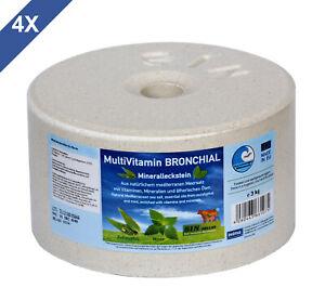 2,75€/1kg Kunden Zuerst Mineralleckstein 4x 3kg Multivitamin Bronchial 4er Set
