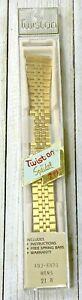Vintage-Twist-on-By-Speidel-Gold-Tone-Watch-Band-21-R