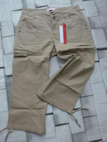 339 Sheego Pantalon Femmes stoffhose 7//8 corsaire taille 40 à 52 BEIGE son