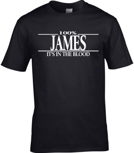 James Surname Mens T-Shirt 100/% James Gift Name Family