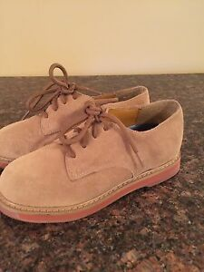 NEW Boy s STRIDE RITE Beige JAMES Suede Leather Oxford Dress Shoes ... b0456649f27
