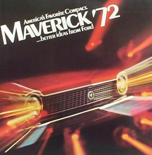 1972 Ford Maverick NOS Sales Brochure