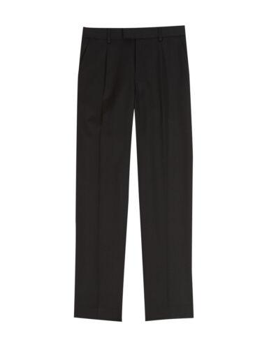 Ex M/&S Generous Fit Plus Fit Boys Black Grey School Trousers Ages 2-16