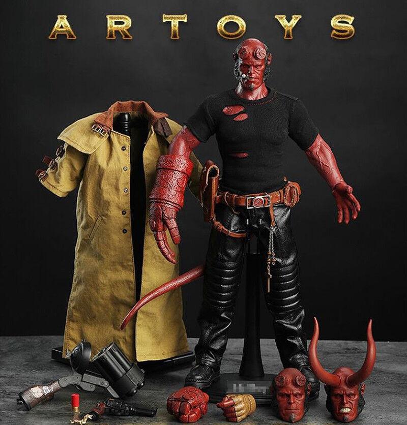 el mas reciente Escala 16 Figura de Acción Hellboy colecciones Infierno Hombre Hombre Hombre Artoys 4 Escultura de cabeza  barato en alta calidad