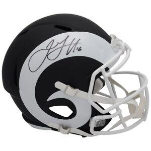 JARED-GOFF-Autographed-Los-Angeles-Rams-Black-Matte-Speed-Helmet-FANATICS