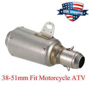Universal-Motorcycle-Exhaust-Muffler-Silencer-Pipe-Slip-On-Exhaust-51mm-US