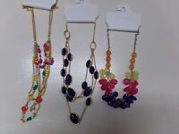 Lot Of 3 Beautiful Womens Color Necklaces Kohl's Colorful Beads C