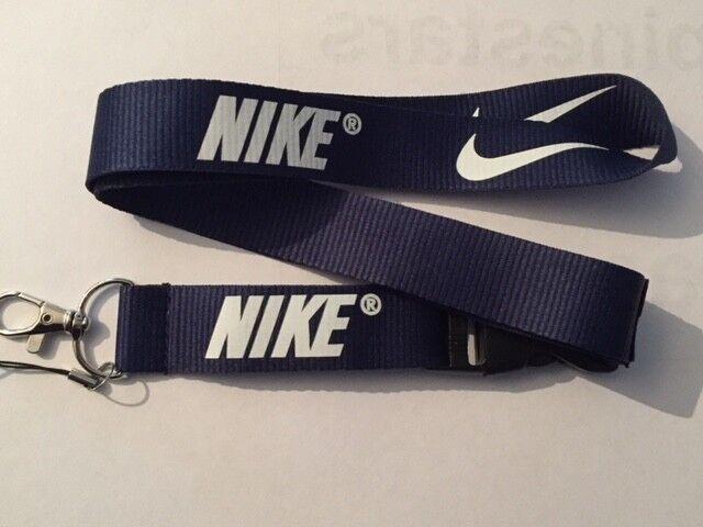 UK Seller Nike Lanyard NEW Blue Black Red Pink Keyring ID Holder Strap