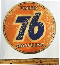 Union 76 Gasoline Decal-AGED--Gas Cans, Oil Cans, Rat Rods