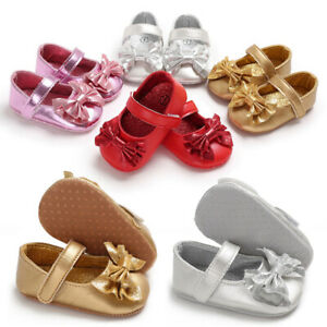 Details about Toddler Baby Girl Princess Crib Shoes Soft Leather Shoes  Newborn Baby 0-18months