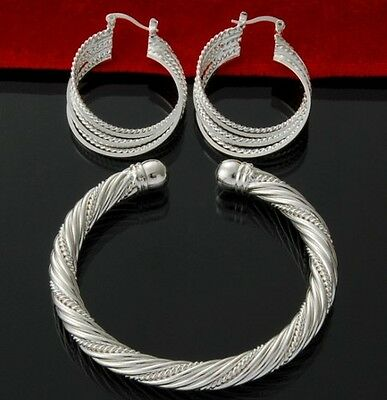 WHOLESALE SOLID STERLING SILVER JEWELERY BRACELET BANGLE EARRINGS RINGS GIFTS