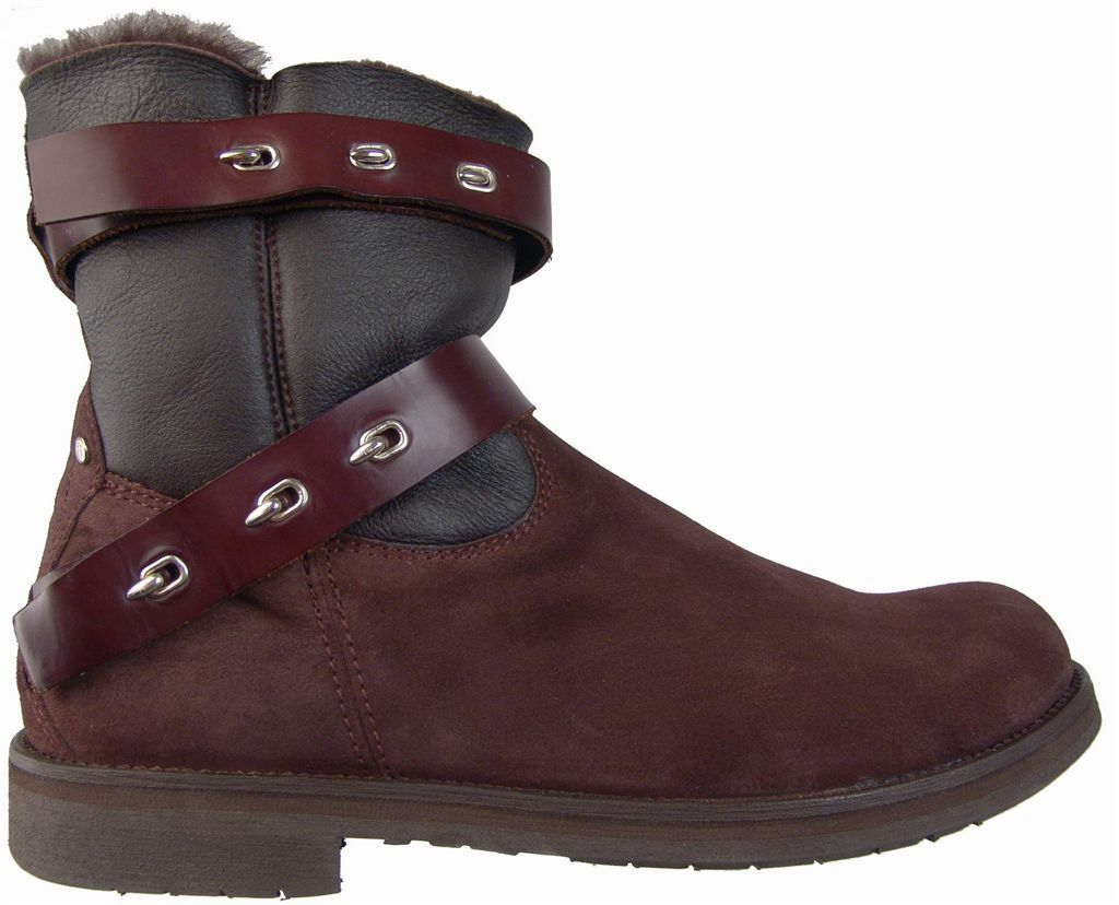 CESARE PACIOTTI Moda Shearling botas De Gamuza US 12 Diseñador Italiano Zapatos para hombre