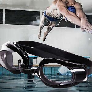 Black-Nose-Clip-Ear-Plug-Anti-MEg-UV-Swimming-Swim-Adjustable-Glasses-QA