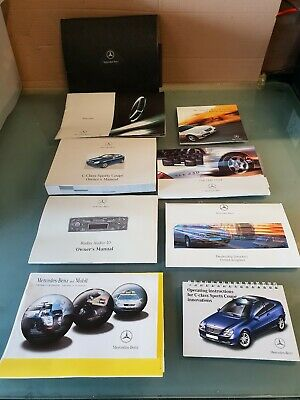 MERCEDES C CLASS SPORTS COUPE W203 OWNERS MANUAL USER HANDBOOK SET Wallet  04-08 | eBay