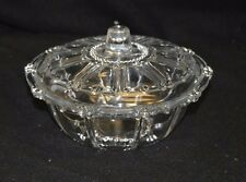 Vintage KIG Indonesia Glass Beaded Lidded Candy Dish/Bowl - Oyster & Pearl