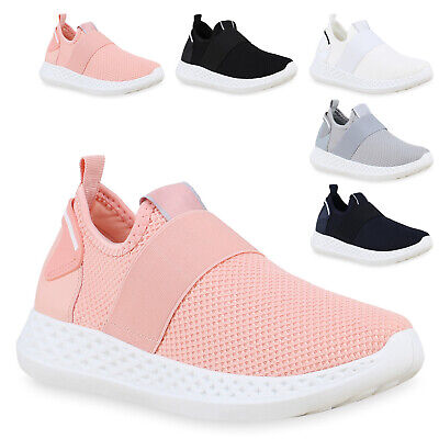 Damen Slip On Laufschuhe Strick Sportschuhe Freizeit Sneaker 826081 Trendy Neu | eBay