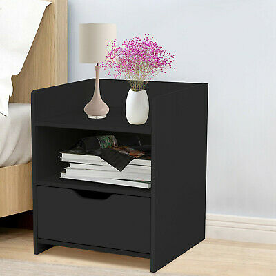Details about  ☆Bedside Tables W/ Drawers Side Table Bedroom Furniture Nightstand Bedside Table