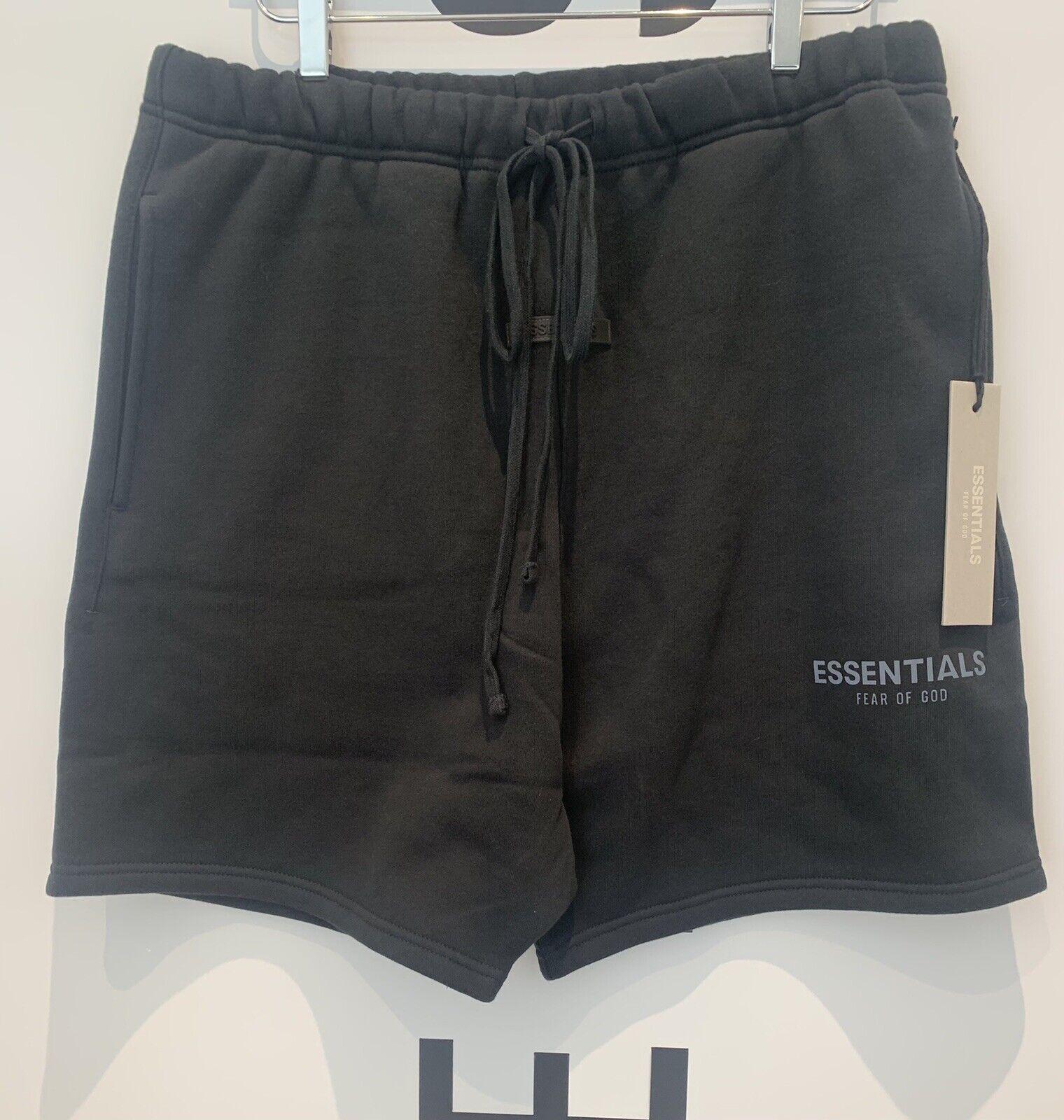 Fear Of God X Essentials Black Sweat Shorts - Size Medium - MAY 2021