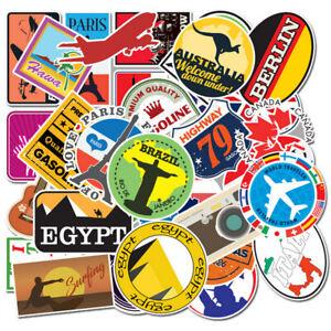 Lot-100-Random-Vinyl-laptop-skateboard-Stickers-bombe-bagages-decals-Dope-Sticker